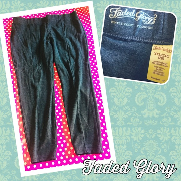 bcefa60e7c2bc7 Faded Glory Pants - FADED GLORY Charcoal Ponte Legging